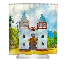 Church Of The Holy Family Shower Curtain
