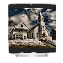 Shower Curtain featuring the photograph Church Of The Immaculate Conception Roslyn Wa by Jeff Swan