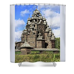 Church Of The Intercession Of The Blessed Virgin Mary, A Unique Monument Of Church Architecture Of A Shower Curtain