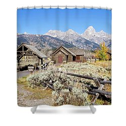 Church Of The Transfiguration Shower Curtain by Shirley Mitchell