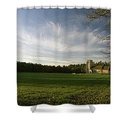 Church On The Edge Of A Forest Shower Curtain