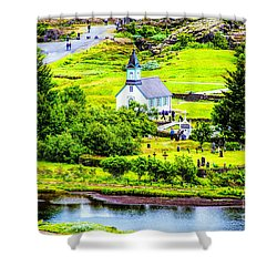 Church On The Green Shower Curtain