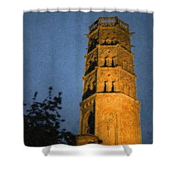 Shower Curtain featuring the photograph Church Steeple by Jean Bernard Roussilhe
