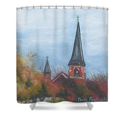 Church Steeple Shower Curtain