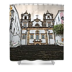 Shower Curtain featuring the photograph Church Steps by Kim Wilson