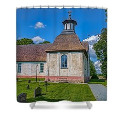 Shower Curtain featuring the photograph Church Teda by Leif Sohlman