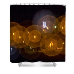 Church With Circle Bokeh Shower Curtain