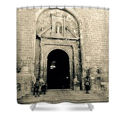 Churchdoor In Mahon Shower Curtain