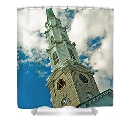 Churche Steeple Shower Curtain