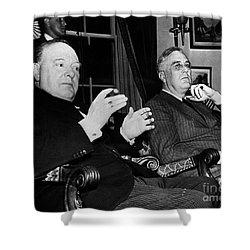 Churchill & Roosevelt Shower Curtain by Granger