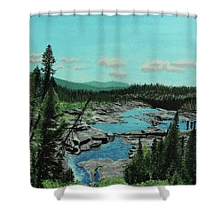 Churchill River Shower Curtain
