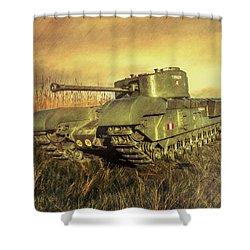 Churchill Tank Shower Curtain by Roy McPeak