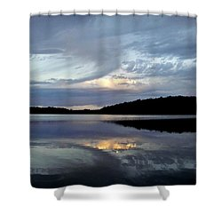 Shower Curtain featuring the photograph Churning Clouds At Sunrise by Chris Berry