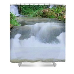 Churning Shower Curtain by Kristin Elmquist