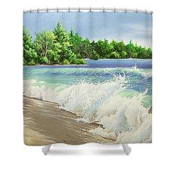 Churning Sand  Shower Curtain