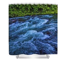 Shower Curtain featuring the photograph Churning Water by Jonny D