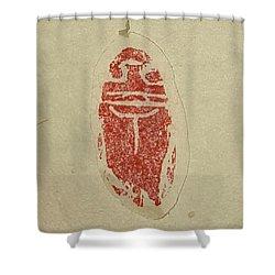 Cicada Chop Shower Curtain by Debbi Saccomanno Chan