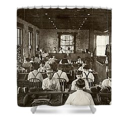 Cigar Factory, 1909 Shower Curtain by Granger
