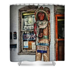 Shower Curtain featuring the photograph Cigar Store Indian by Paul Ward