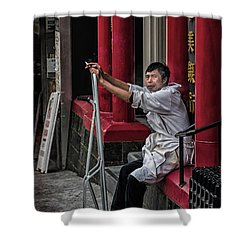 Cigarette Break Shower Curtain