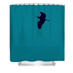 Cigogne En Silhouette Shower Curtain by Marc Philippe Joly
