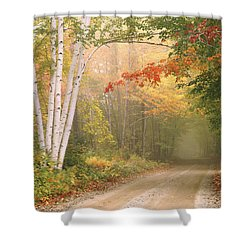Cilley Hill Road In Underhill Vermont. Shower Curtain