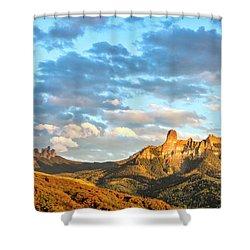 Cimarron Sunset In Autumn Shower Curtain