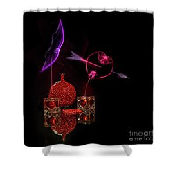 Cinnamon Hearts Shower Curtain