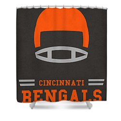 Cincinnati Bengals Vintage Art Shower Curtain