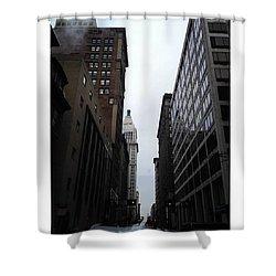 #cincinnati #downtown #street Shower Curtain