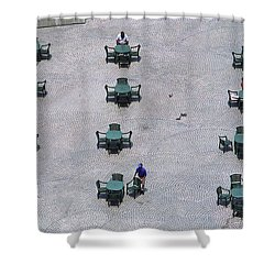 Cincinnati - Fountain Square Shower Curtain by Frank Romeo