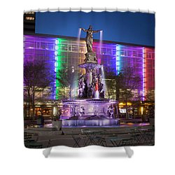 Cincinnati Fountain Square Shower Curtain