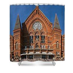 Cincinnati Music Hall Shower Curtain by Rob Amend