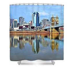 Cincinnati Ohio Times Two Shower Curtain