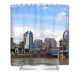 Cincinnati Panorama Shower Curtain by Keith Allen