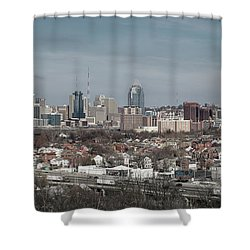 Cincinnati Panorama  Shower Curtain