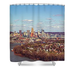 Cincinnati Skyline 2 Shower Curtain
