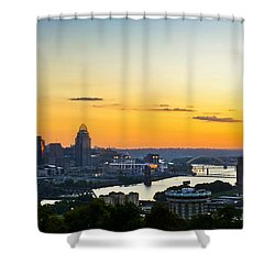 Cincinnati Sunrise II Shower Curtain by Keith Allen