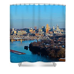 Cincinnati View From The West Shower Curtain
