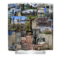 Shower Curtain featuring the photograph Cincinnati's Favorite Landmarks by Robert Glover