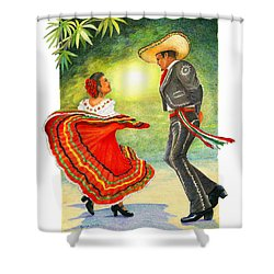 Cinco De Mayo Dancers Shower Curtain