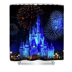 Cinderella Castle Fireworks Shower Curtain by Mark Andrew Thomas