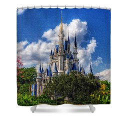 Cinderella Castle Summer Day Shower Curtain