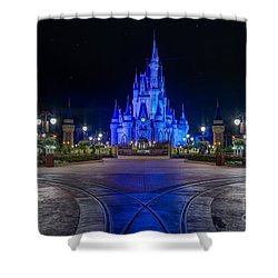Cinderellas Castle Glow Shower Curtain