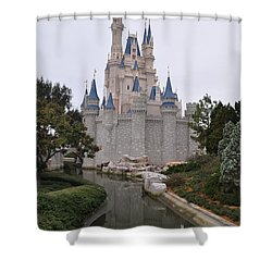 Cinderellas Castle Shower Curtain by John Black