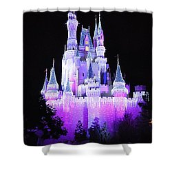Cinderella's Holiday Castle Shower Curtain by John Black