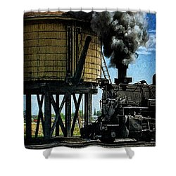 Shower Curtain featuring the photograph Cinders And Water by Ken Smith