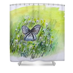 Cindy's Butterfly Shower Curtain by Clyde J Kell