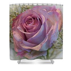 Cindy's Rose Shower Curtain by Judy Johnson