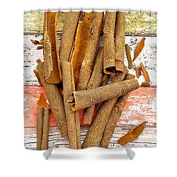 Cinnamon Bark Shower Curtain